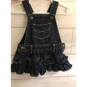 Baby Gap ruffle overalls